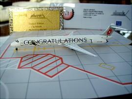 Crossair MD-83 Congratulations livery