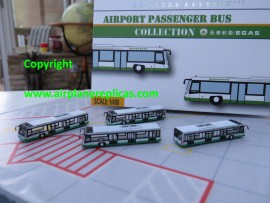 EVA Air Airport buses set of 4 1/400 scale