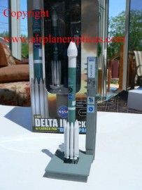 NASA Delta II rocket with lauch pad Deep Impact